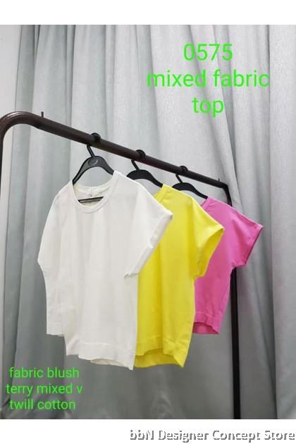 MIXED FABRIC TOP VT0575